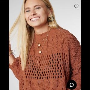 Billabong cropped chenille sweater